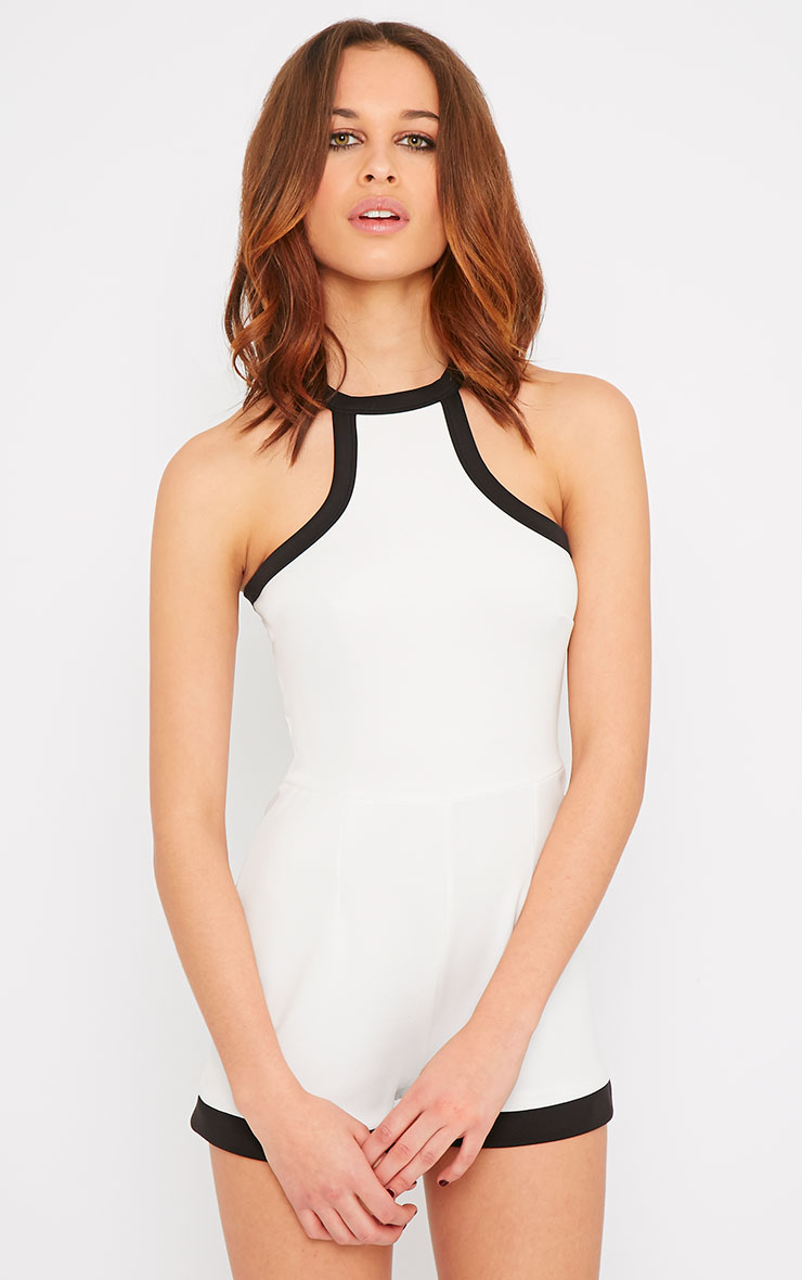 Jennifer White Racer Front Playsuit 1
