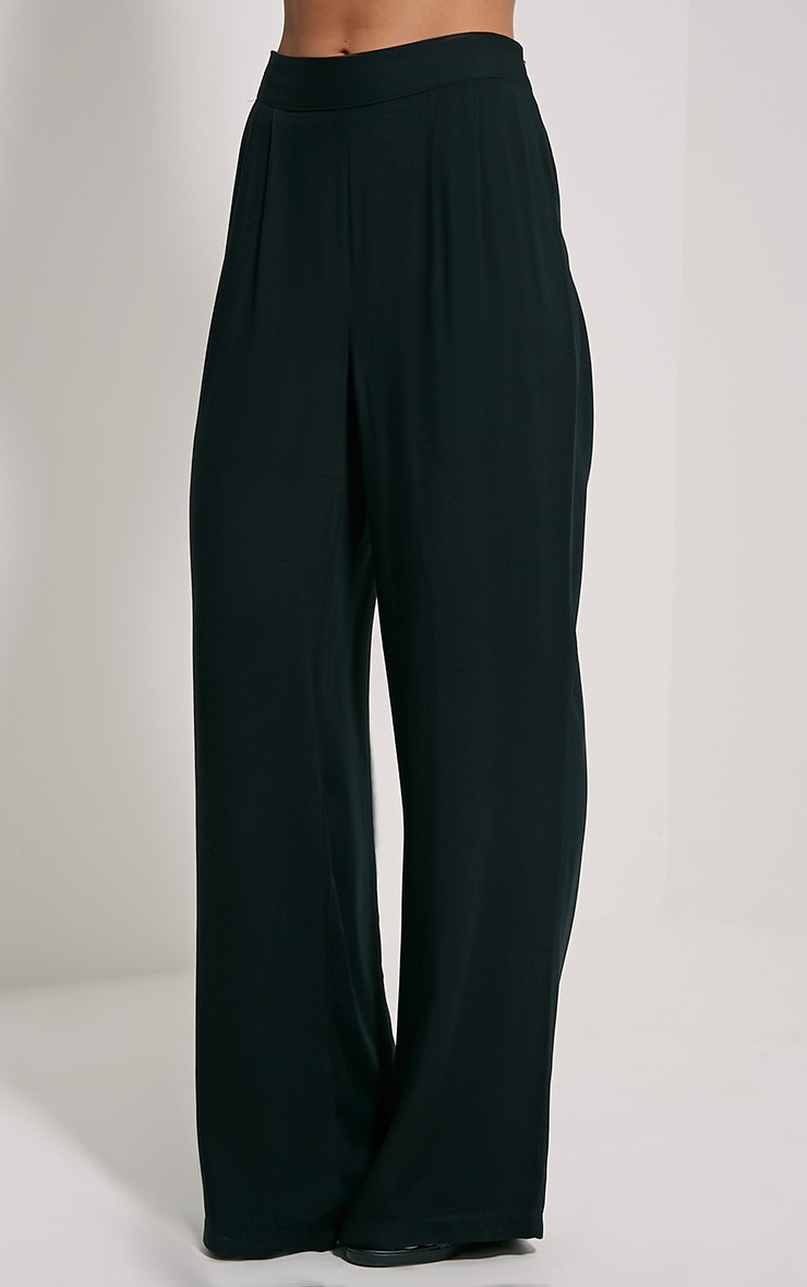 Posey Black Relax Fit Trousers 3
