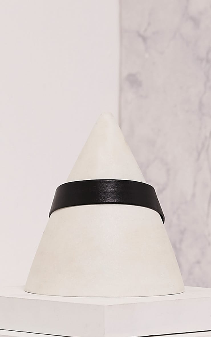 Cira Black Faux Leather Choker 3