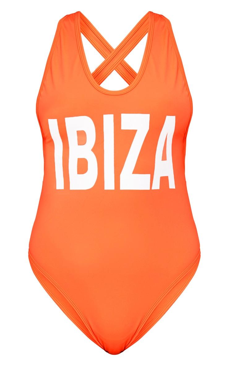 Tanya Orange Ibiza Print Swimsuit 3