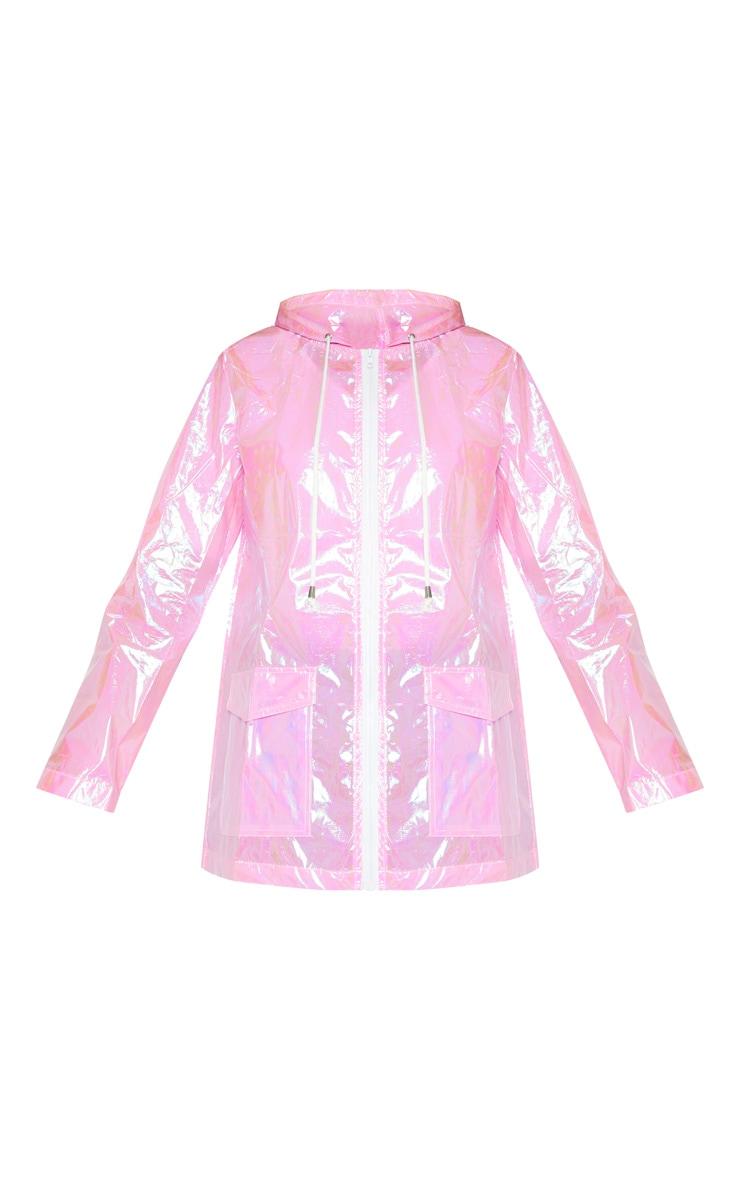 Cobie Pink Holographic Rain Mac 3