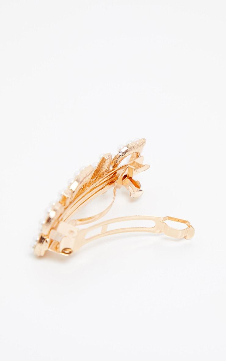 Gold Pearl Paris Hair Clip 3