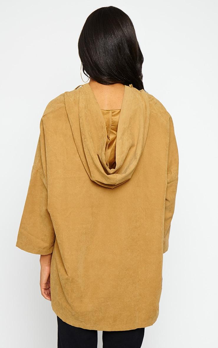 Laina Camel Hooded Jacket 2