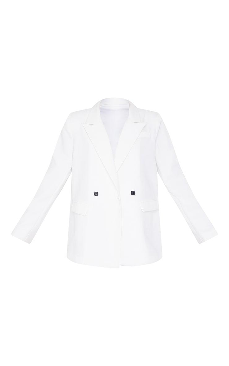 Blazer blanc oversize à slogan au dos 6