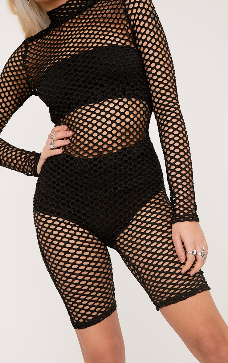 Kloe Black Fishnet Unitard 5