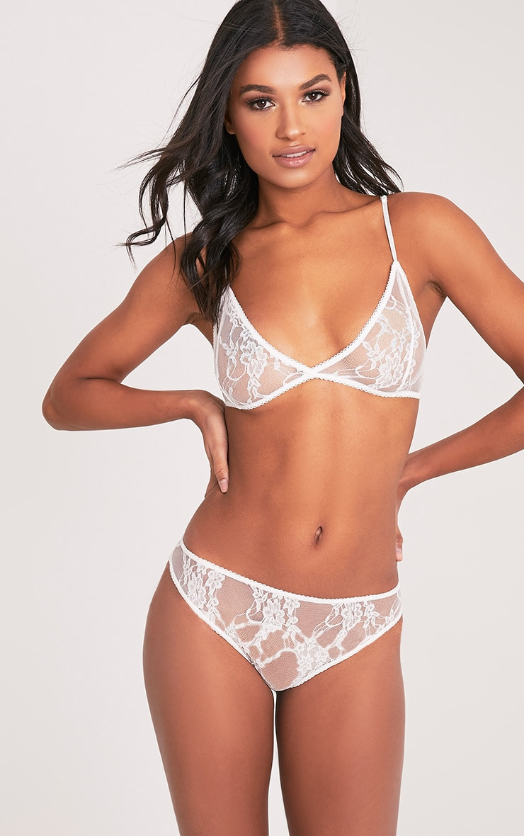 Kadia White Lace Thong 1