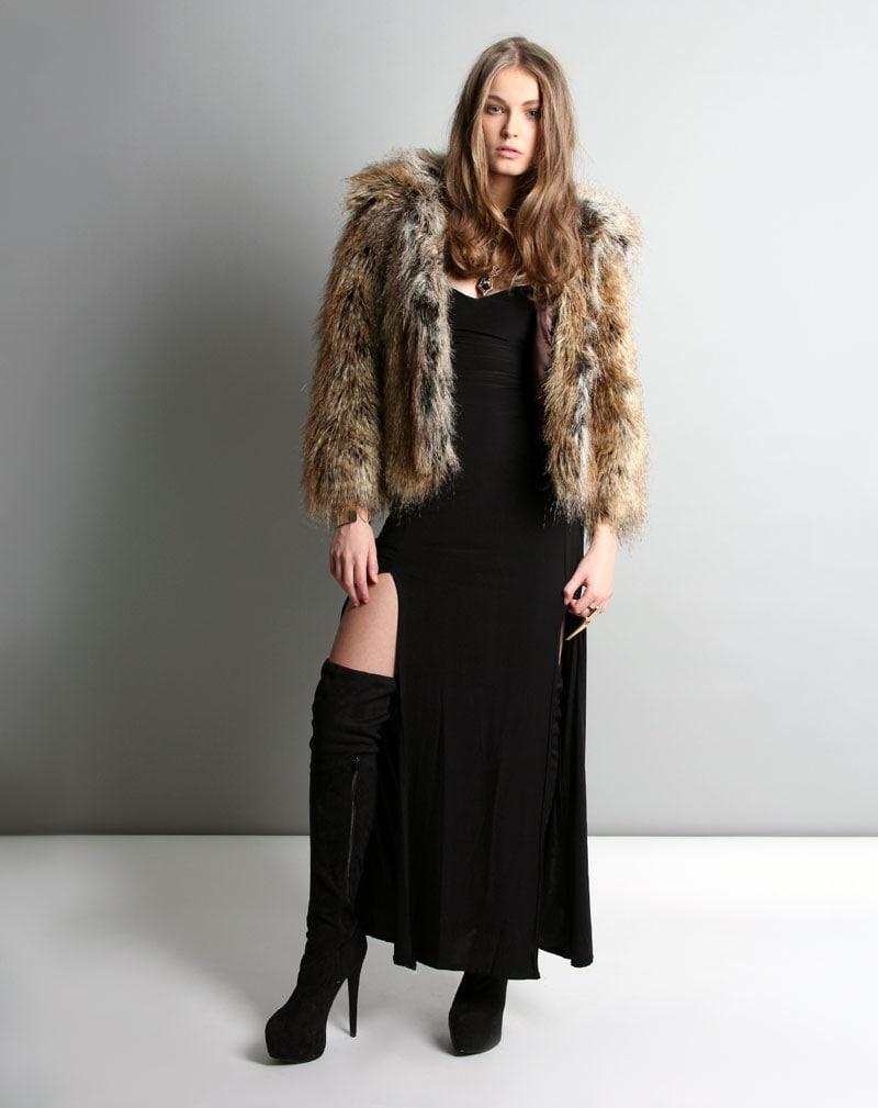 Millie Faux Fur Coat -8 3