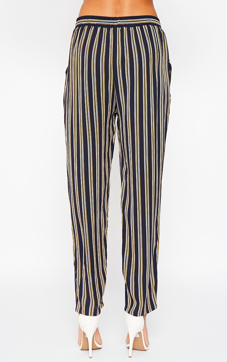 Kali Navy Stripe Trousers 4