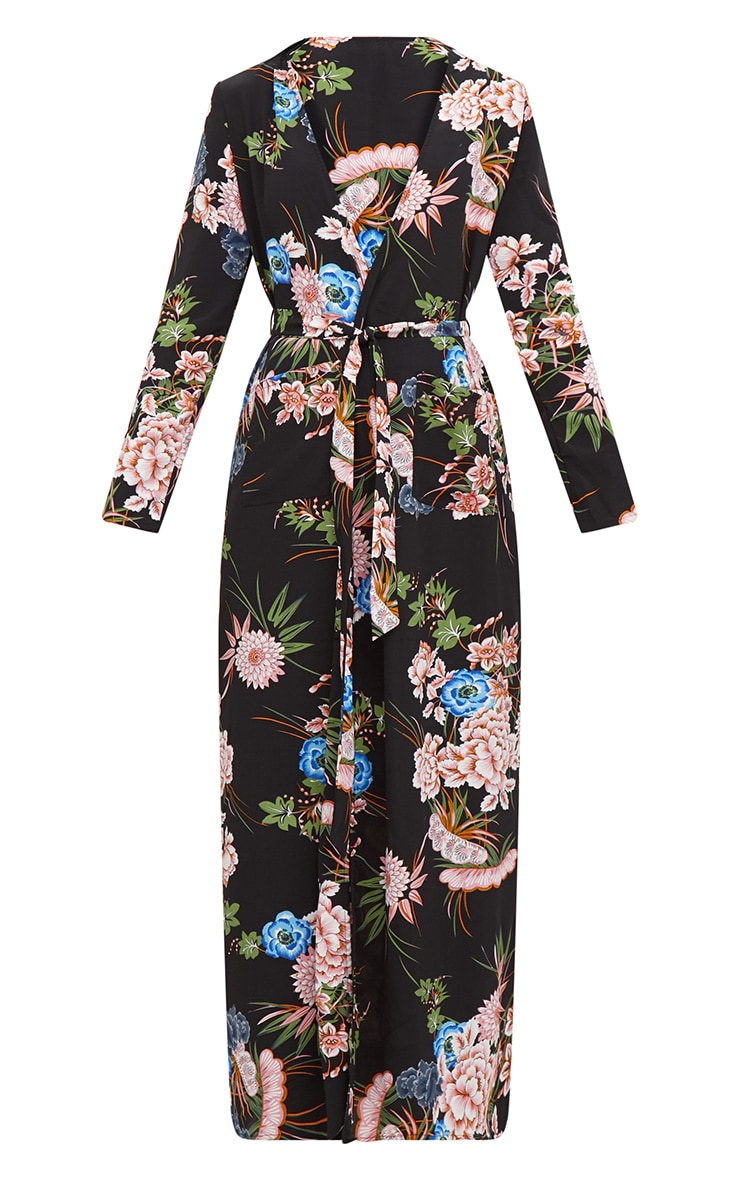 Black Floral Maxi Duster 3