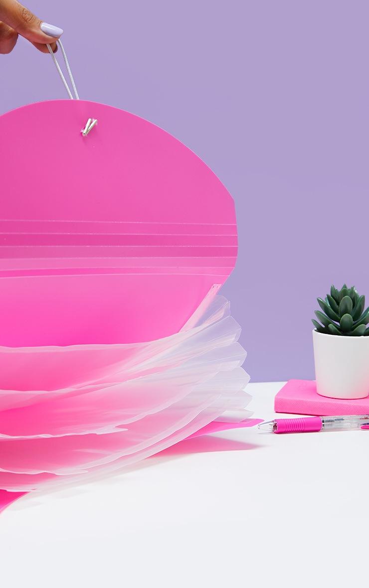 Pink 5 Pocket Expanding Folder 2