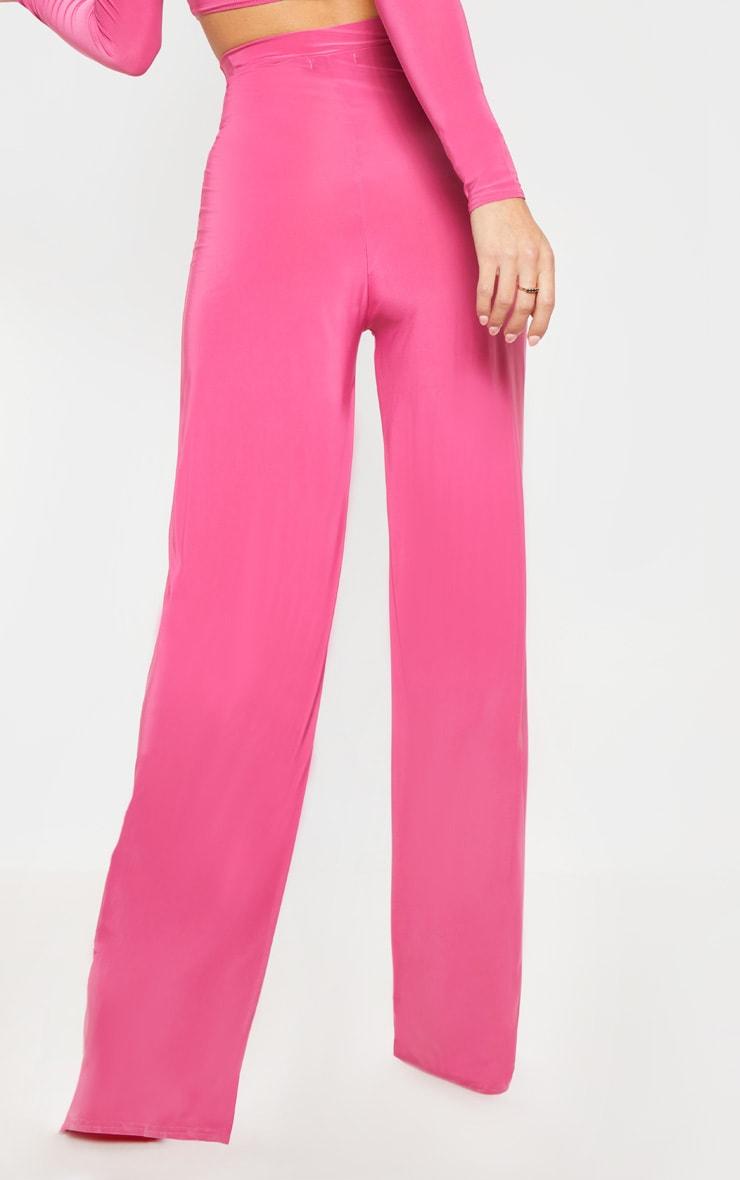 Hot Pink Slinky Palazzo Pants 3