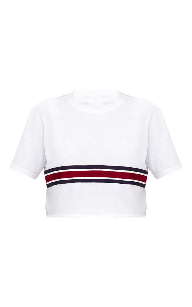 Sporty Tape Crop T Shirt 3
