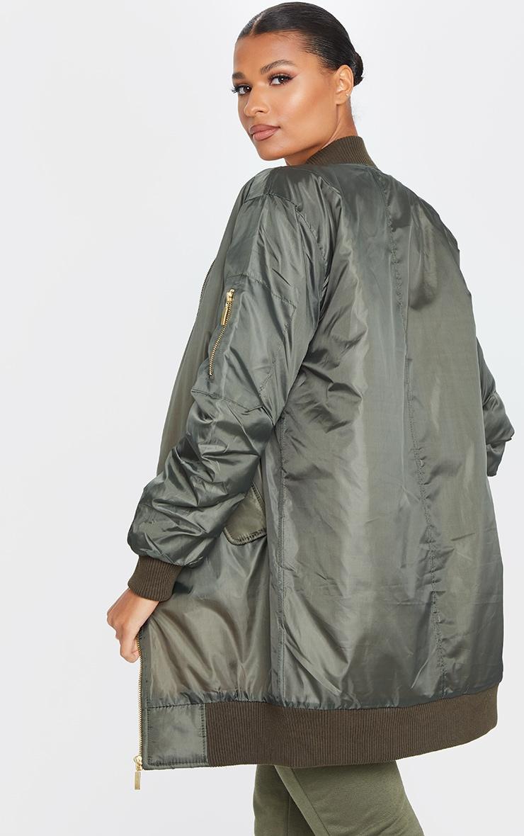 Alexus Khaki Bomber Jacket 2