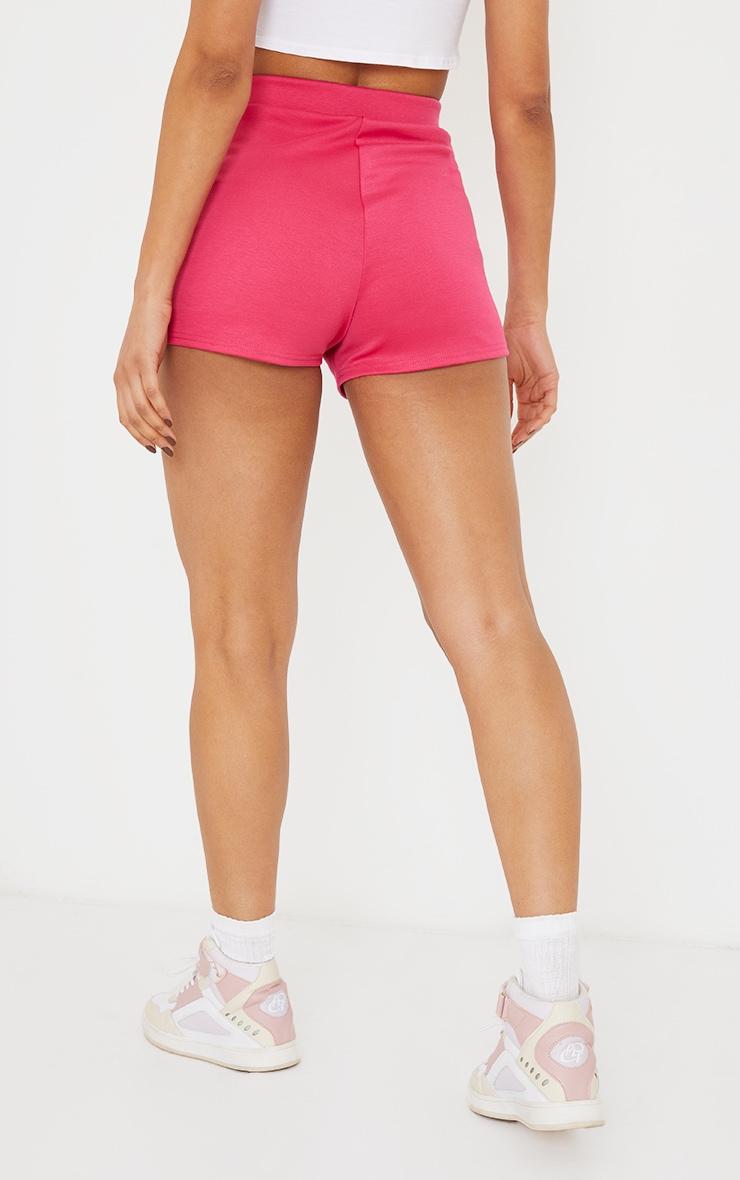 Hot Pink High Waisted Ponte Hot Pants 3