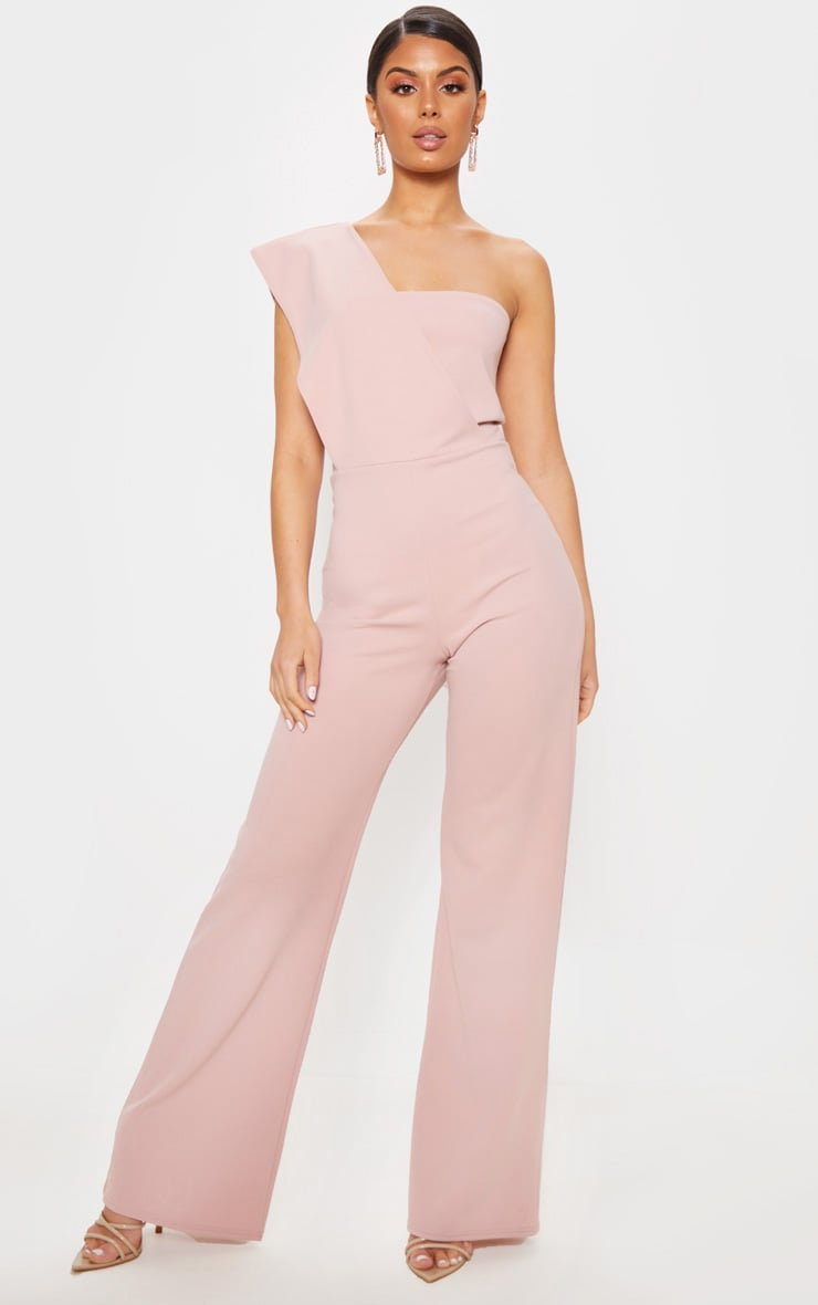 Rose Drape One Shoulder Jumpsuit