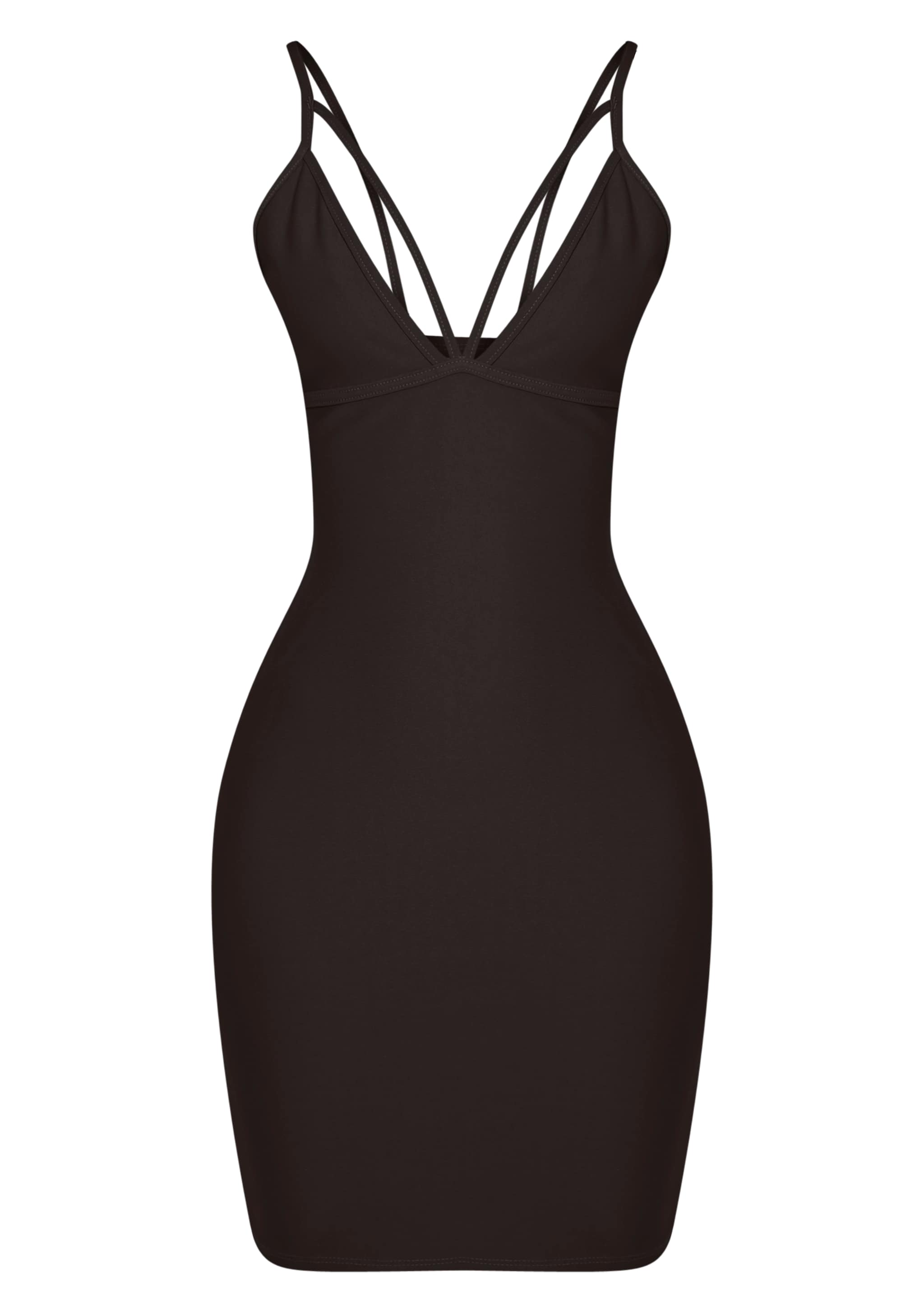 Carolina Black Double Strap Bodycon Dress 3