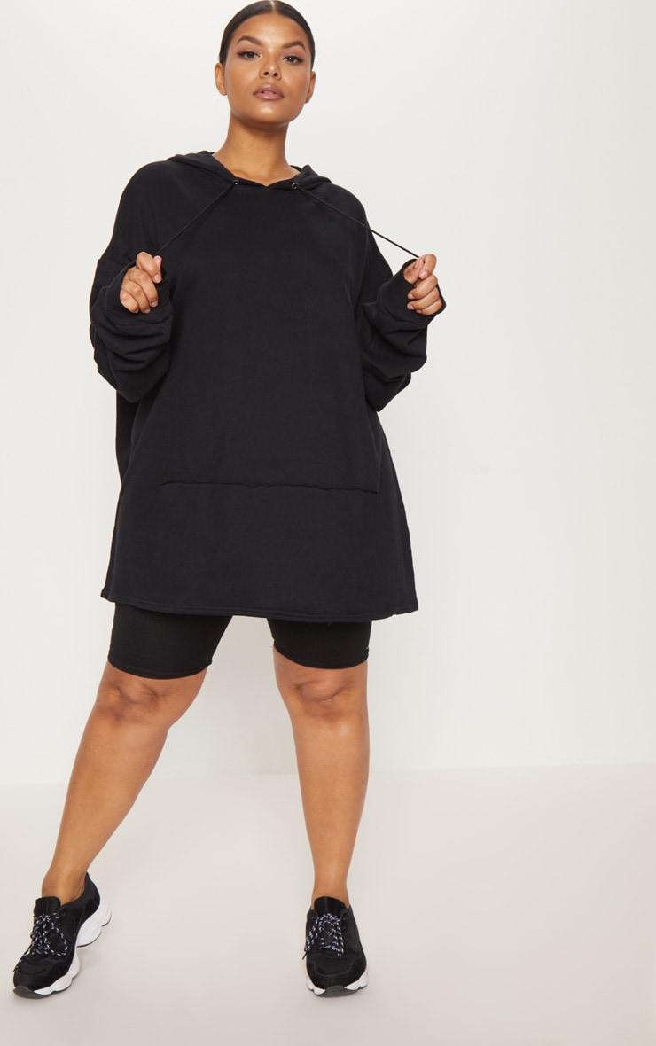 Plus Black Oversized Hoodie 4