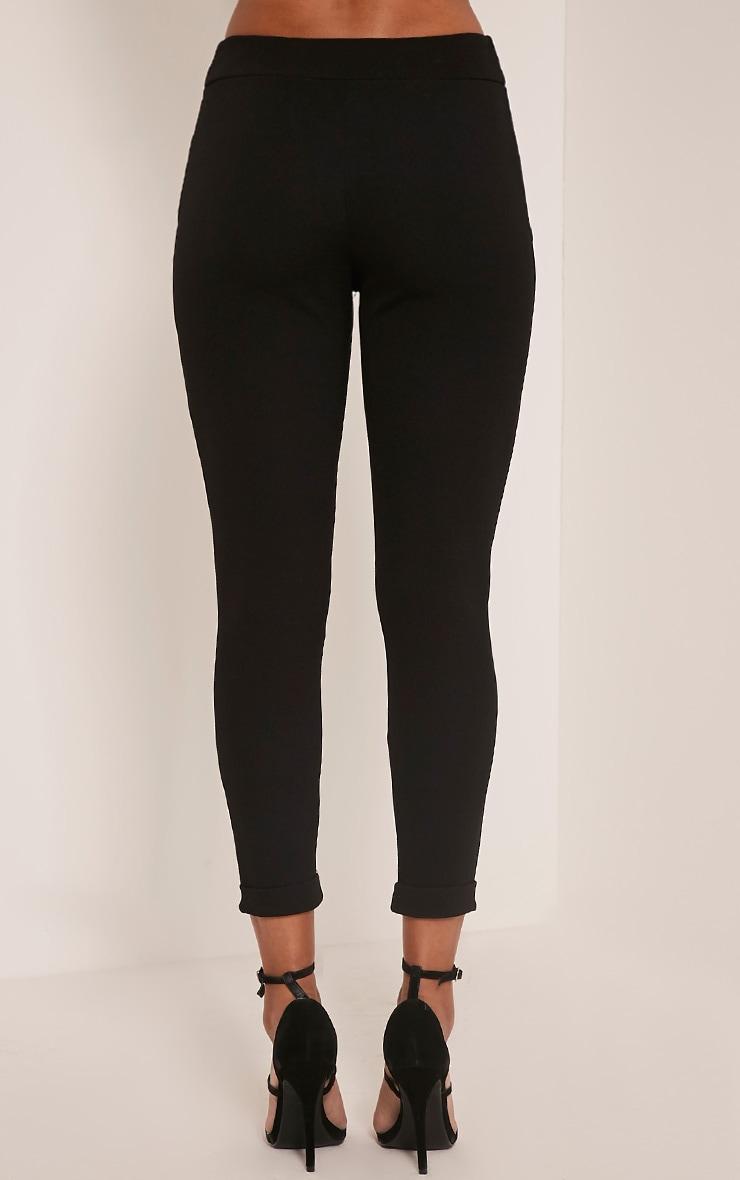 Farren Black Crepe Skinny Trousers 3