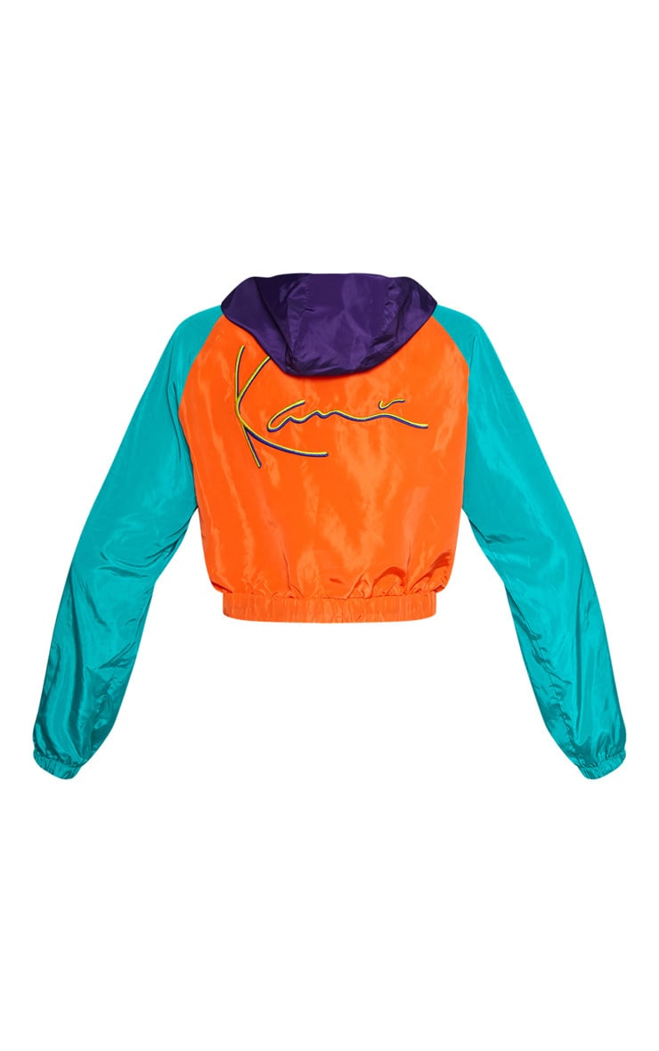 KARL KANI Orange Windbreaker Hooded Jacket 5