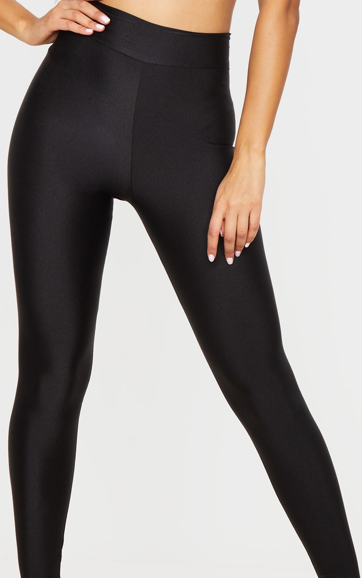Black Disco High Waisted Leggings 4