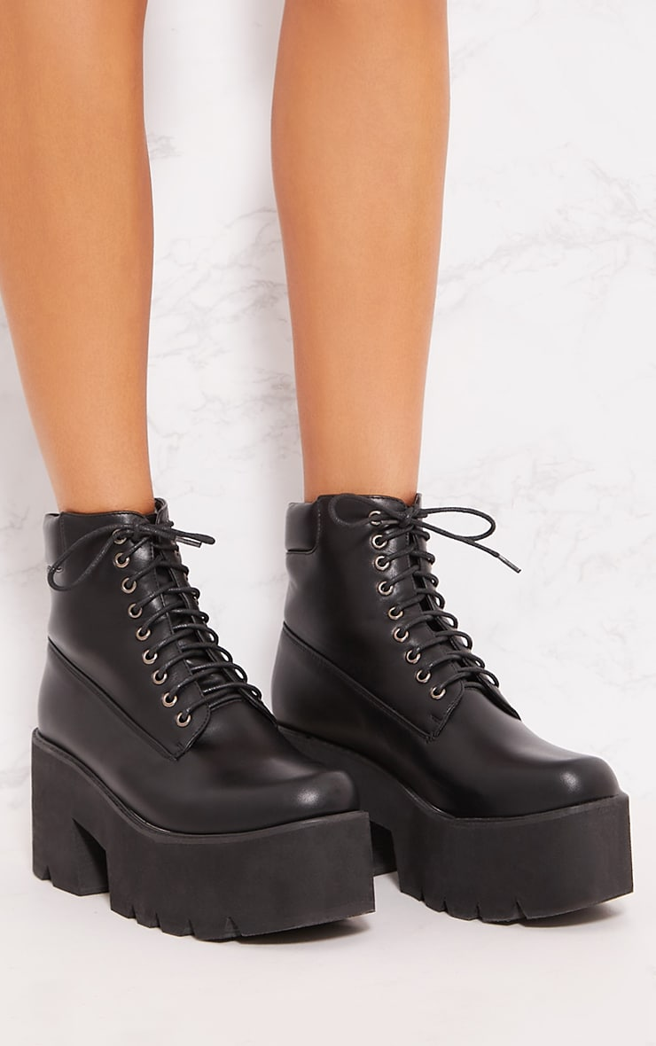 Black Chunky Festival Boot 4
