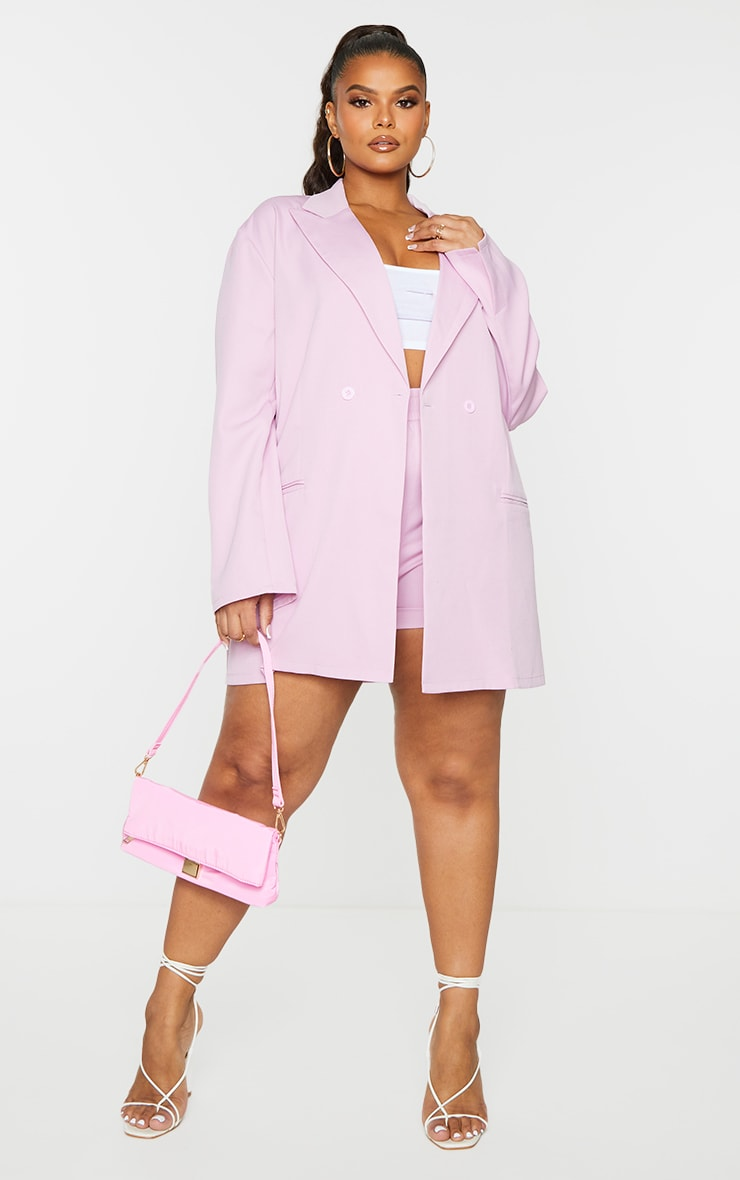 Plus Lilac Relaxed Oversized Blazer 3