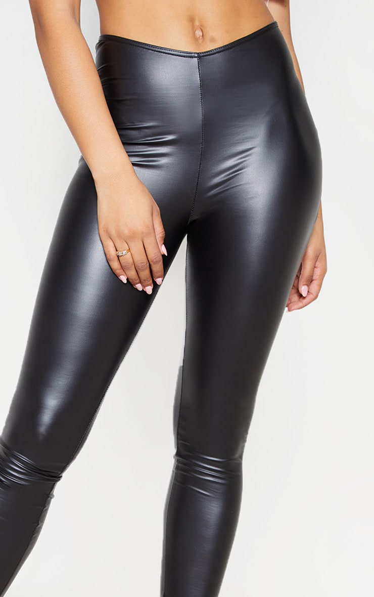 Tall Legging en similicuir noir