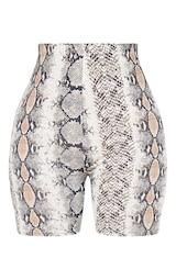 Shape Taupe Snake Jersey Bike Shorts 3