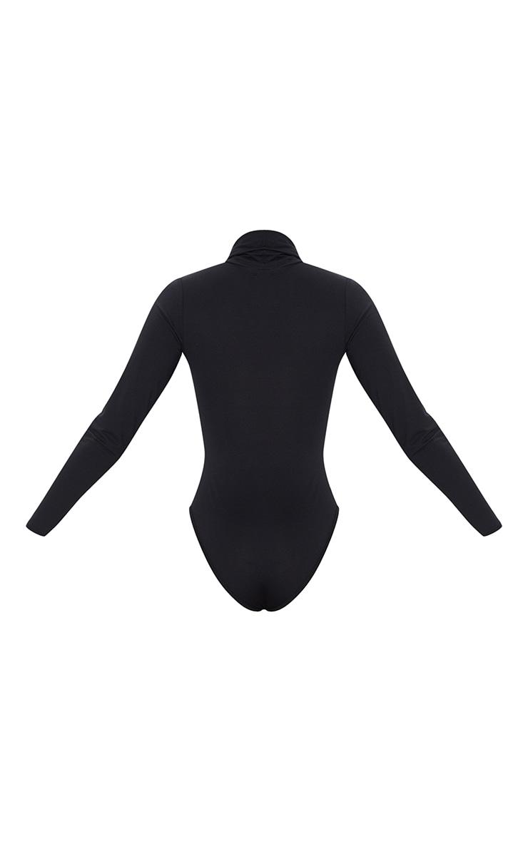 Basic Black & White 2 Pack Roll Neck Long Sleeved Bodysuit 6