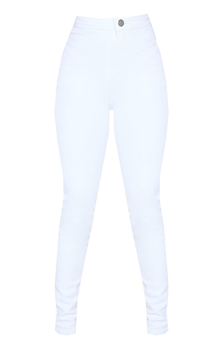 Petite White High Rise Skinny Jeans  5