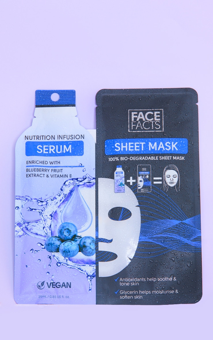 Face Facts Serum Sheet Mask Nutrition Infusion 1