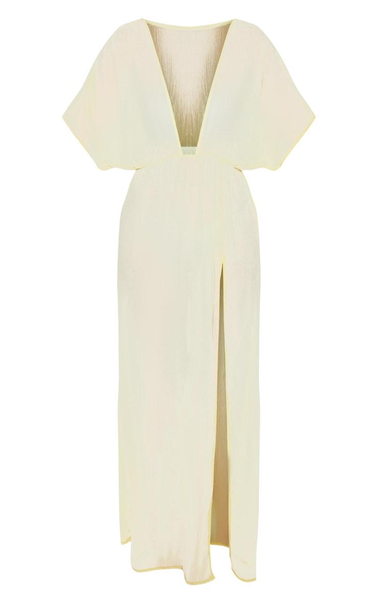 Lemon Textured Beach Dress 3