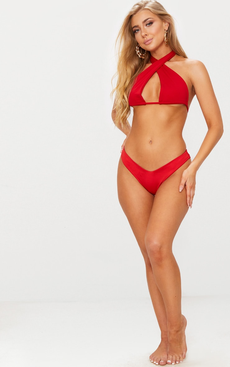 Red Multi Way Bikini Top 4
