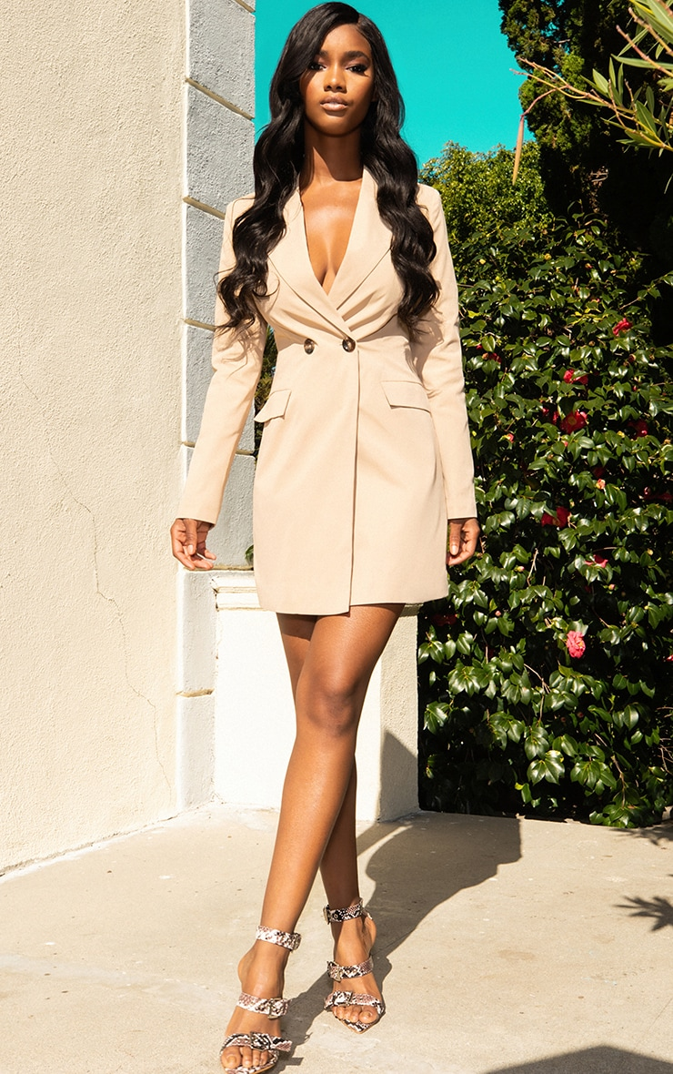 CAMEL BLAZER DRESS