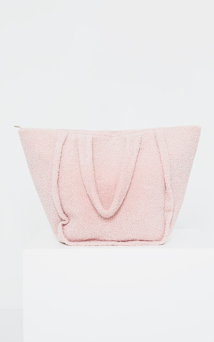 Pink Oversized Borg Tote Bag 3