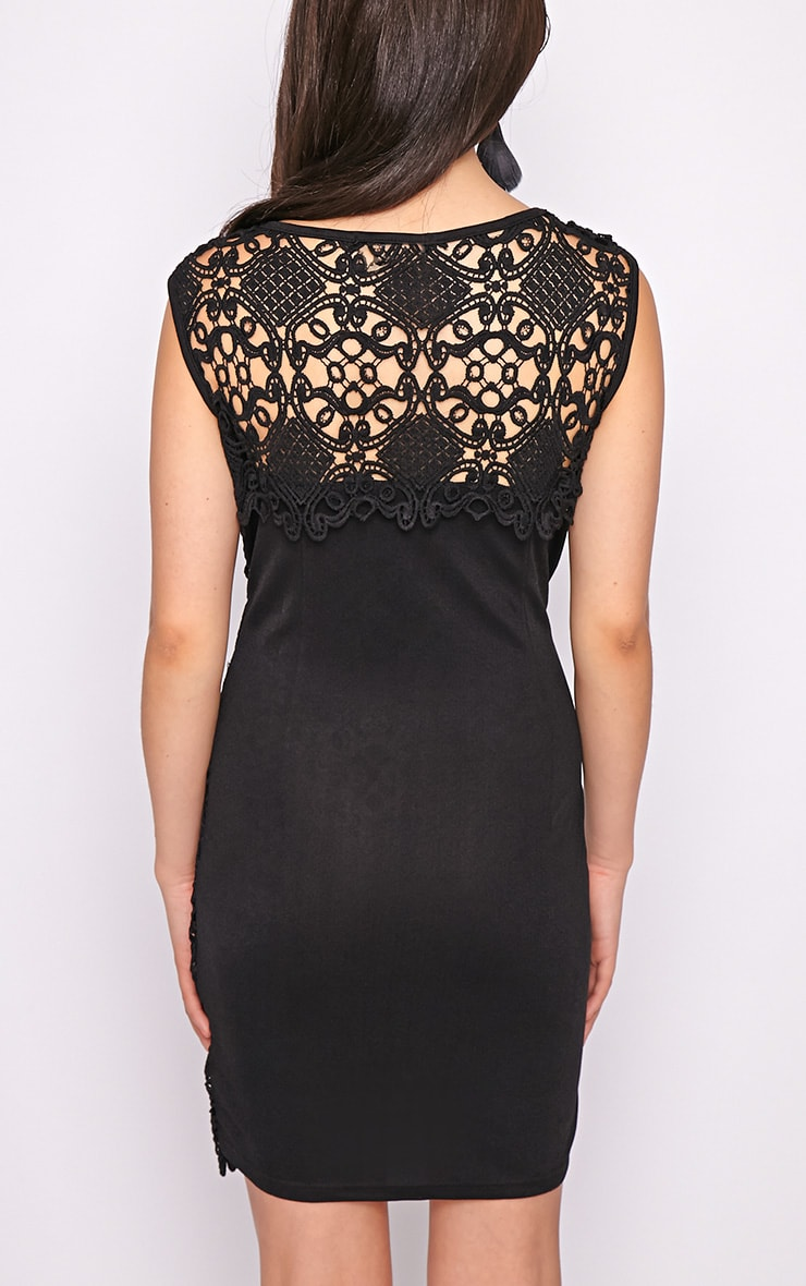 Nadia Black Lace Shift Dress  2