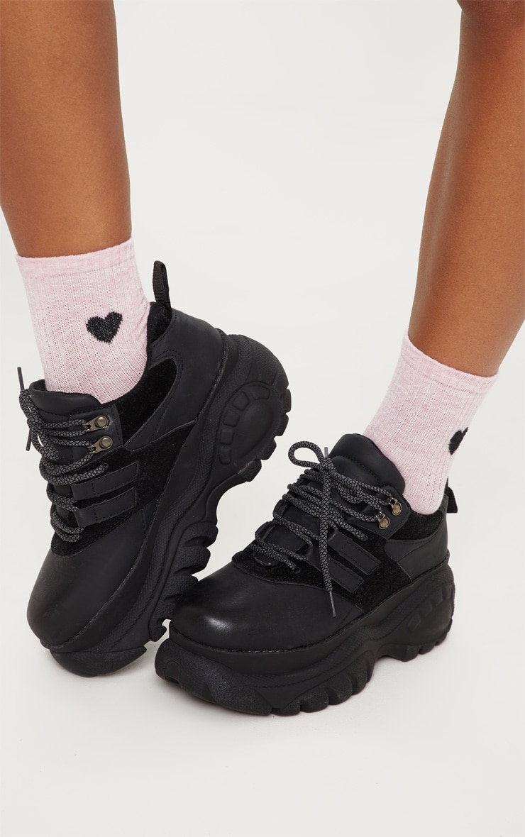 Pink Heart Knitted Socks 2