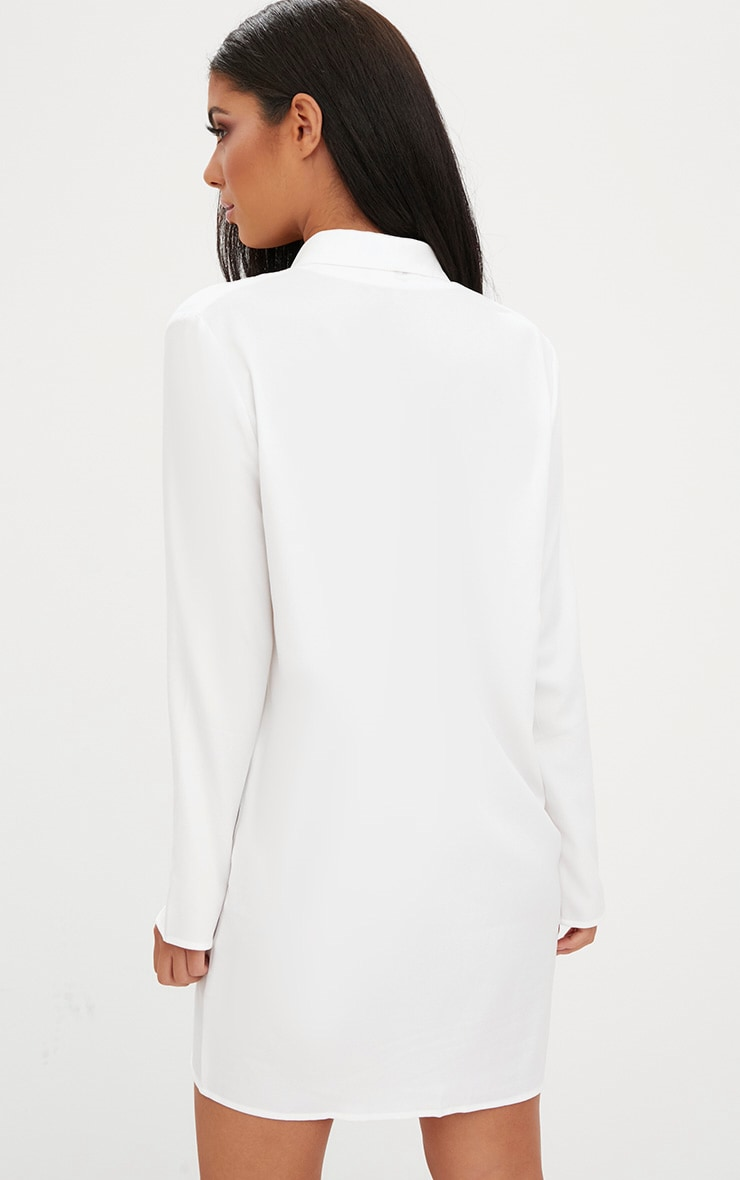 White Oversized Blazer Shift Dress 2