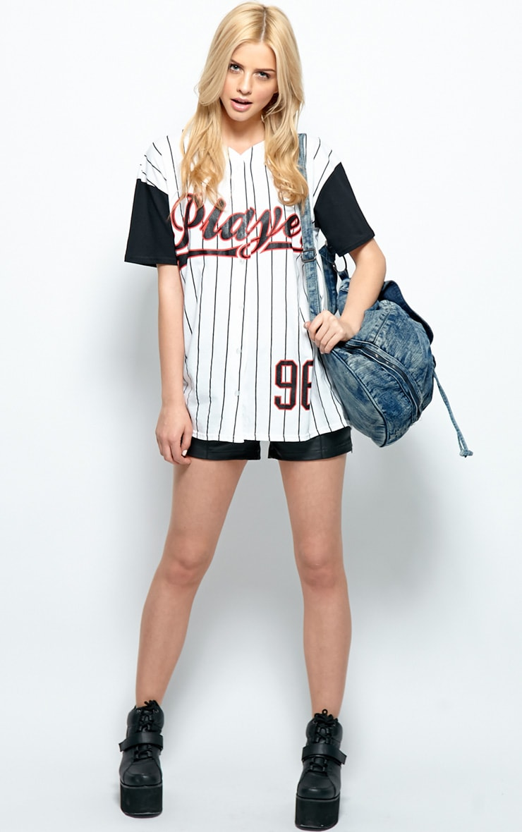 Winston Black & White 'Player' Baseball T-Shirt 3