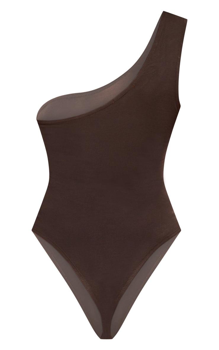 Chocolate One Shoulder Bodysuit 4