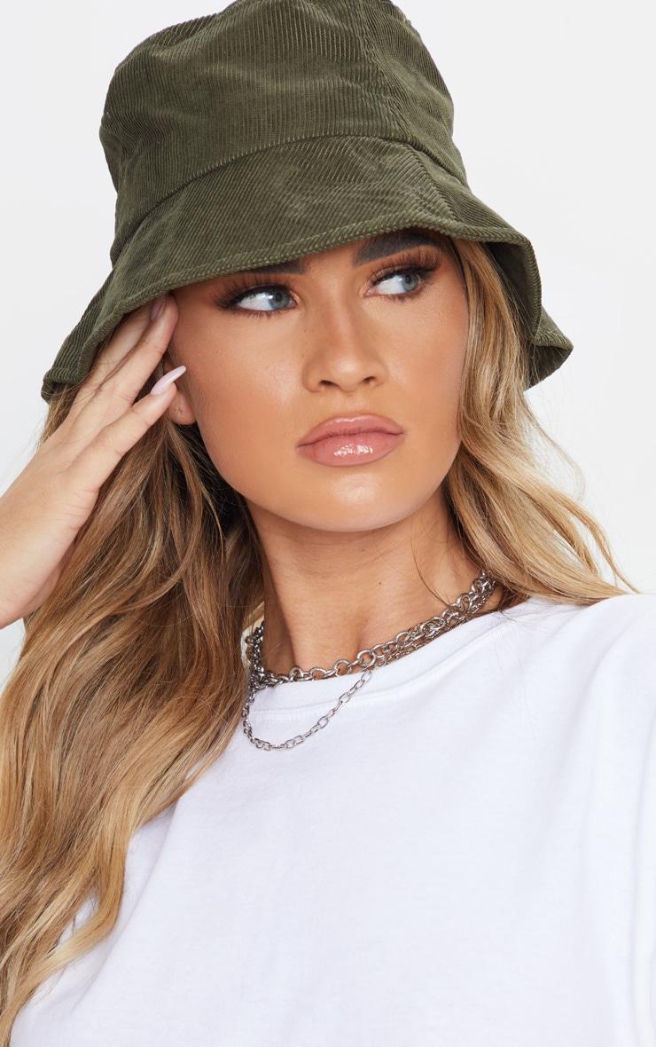 Khaki Cord Bucket Hat 1