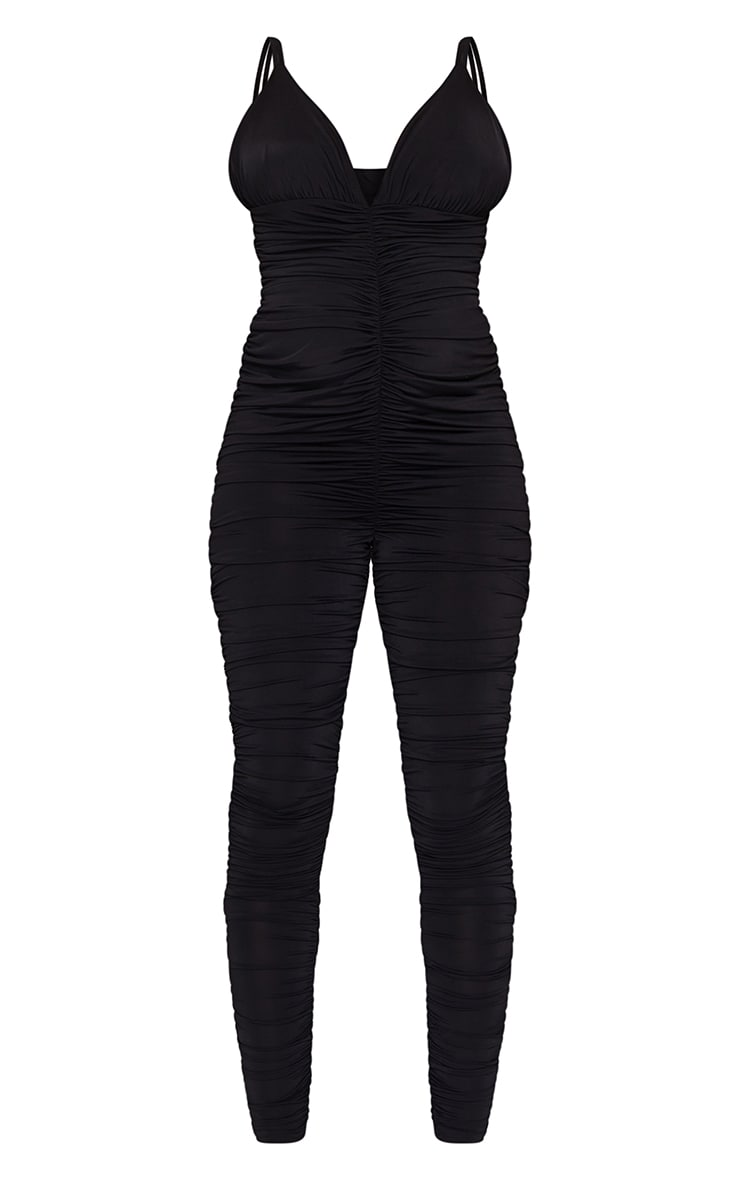 Maternity Black All Over Ruched Jumpsuit 5
