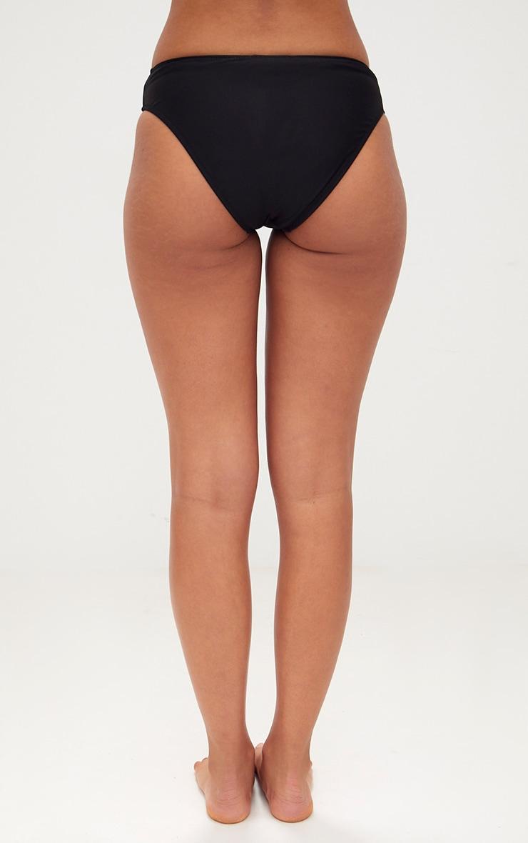 Black V Front Bikini Bottoms 4
