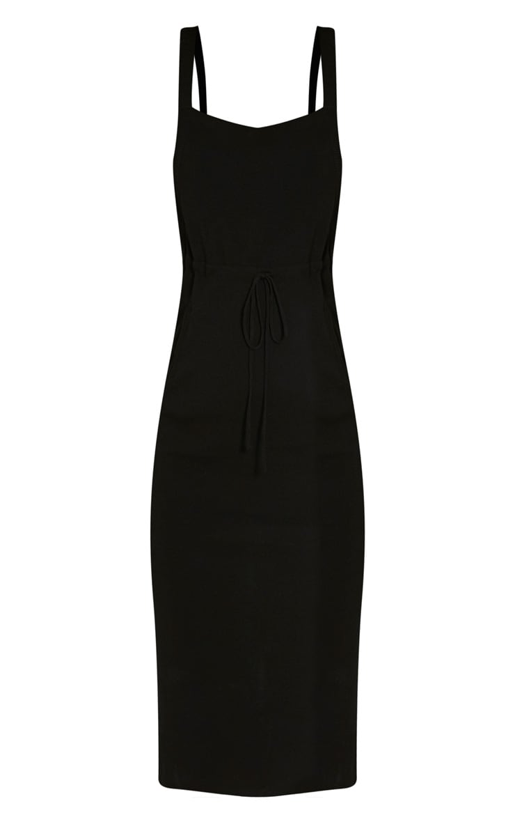 Aideen Black Knitted Pinafore Dress 3