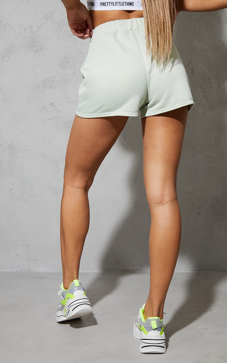 PRETTYLITTLETHING Green Sport Sweat Shorts 3