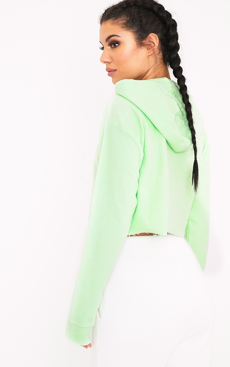 Charissa Pastel Green Inside Out Cropped Hoodie 2