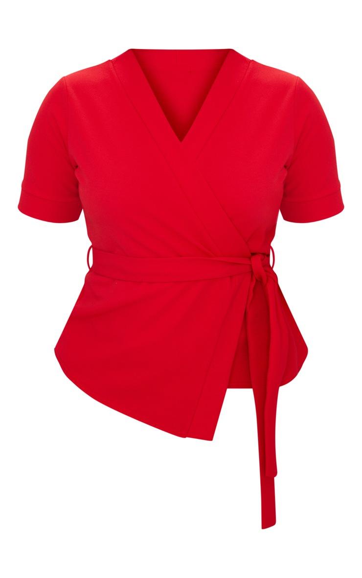 Plus Red Kimono Wrap Top 3