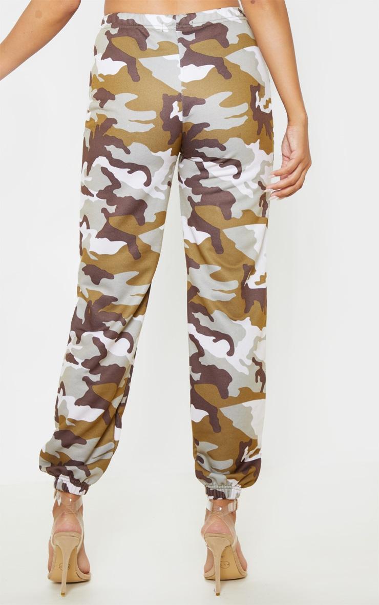 Khaki Camo Print Basic Cuff Hem Jogger 4