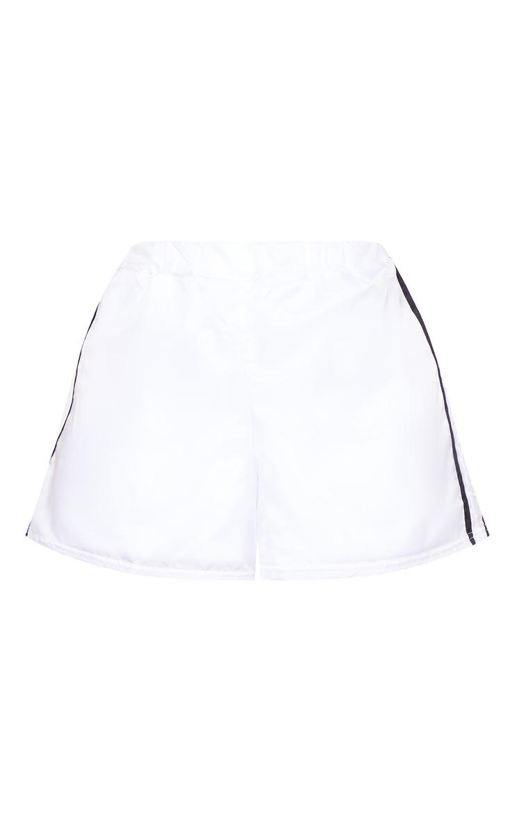 Shape White Shell Sport Stripe Shorts 3