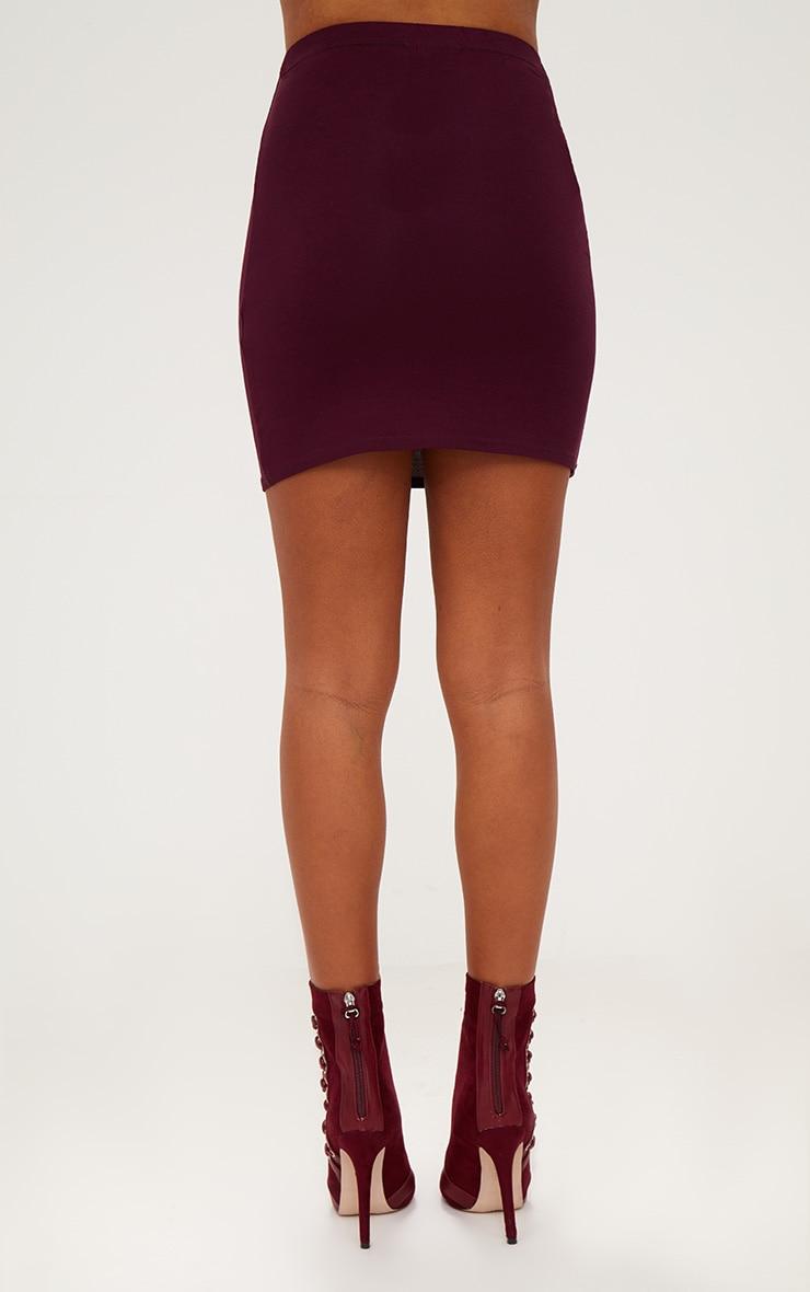 Plum Basic Mini Skirt  4